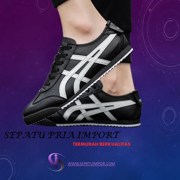 Sepatu Cowok Model Tiger Warna Hitam