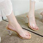 Sandal Cinderella Transparan Asli Import Murah