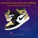 Sepatu Sport Branded Import Warna Gold