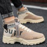 Sepatu Boots Pria Warna Abu